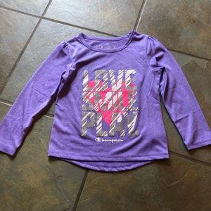 Champion girls sport shirt size 4